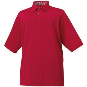 Footjoy ProDry Performance Lisle Solid Self Collar Men's Polo - Red
