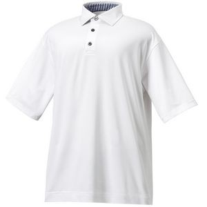 Footjoy ProDry Performance Lisle Solid Self Collar Men's Polo - White