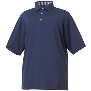 Footjoy ProDry Performance Lisle Solid Self Collar Men's Polo - Navy